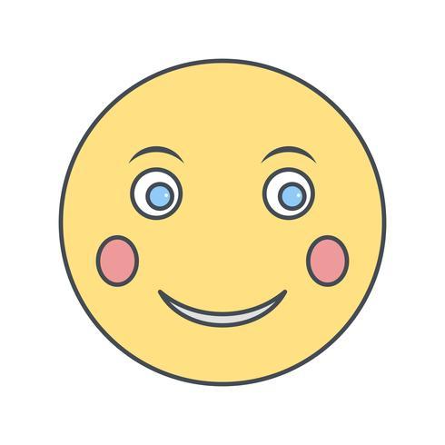 icône de vecteur emoji blush