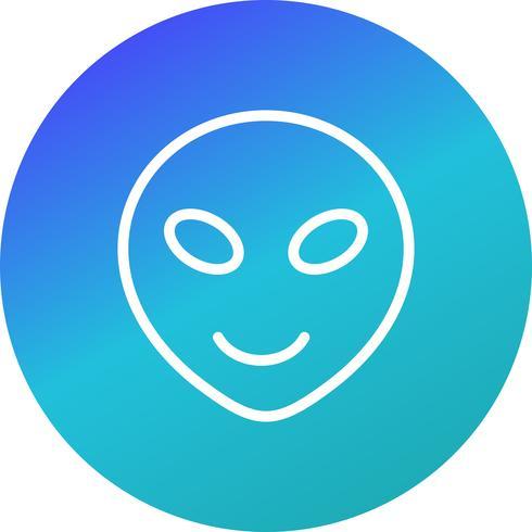 Alien Emoji Vector Icon