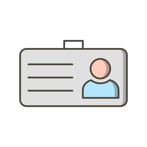 Student Card Vector Icon