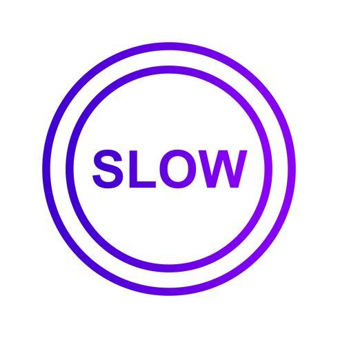Vector Slow Icon