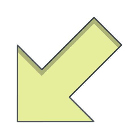 Icône de vecteur gauche
