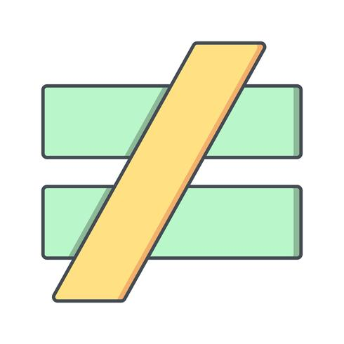 notequalto vektorikonen