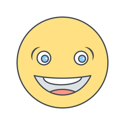 Riant Emoji Vector Icon
