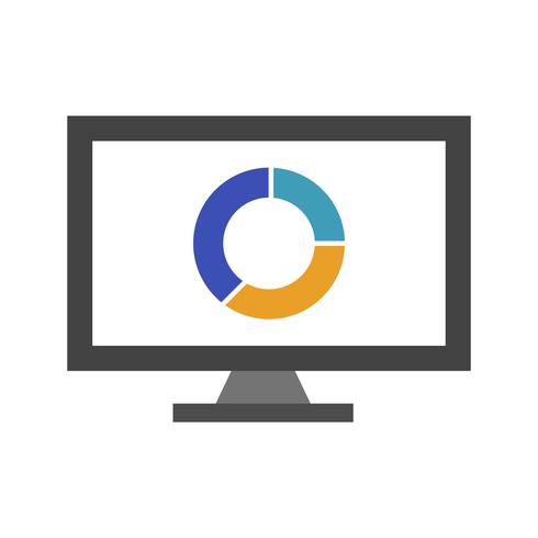 Online diagram vektor ikon