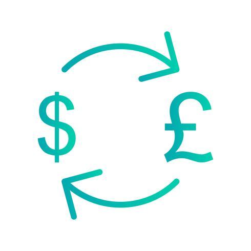 Byte pund med dollar vektor ikon
