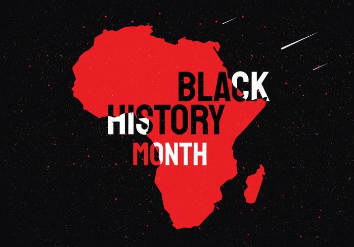 Vector del mes de la historia negra