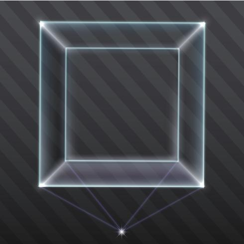 The exhibition showcase a hologram vector