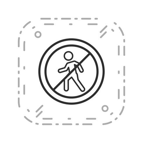 Vettore Nessuna voce per i pedoni Icona