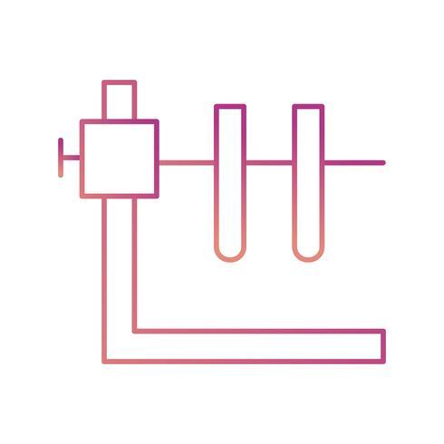 Två rör med stativ vektor ikon