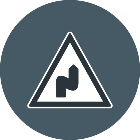 Vector Double bend to the right Icon