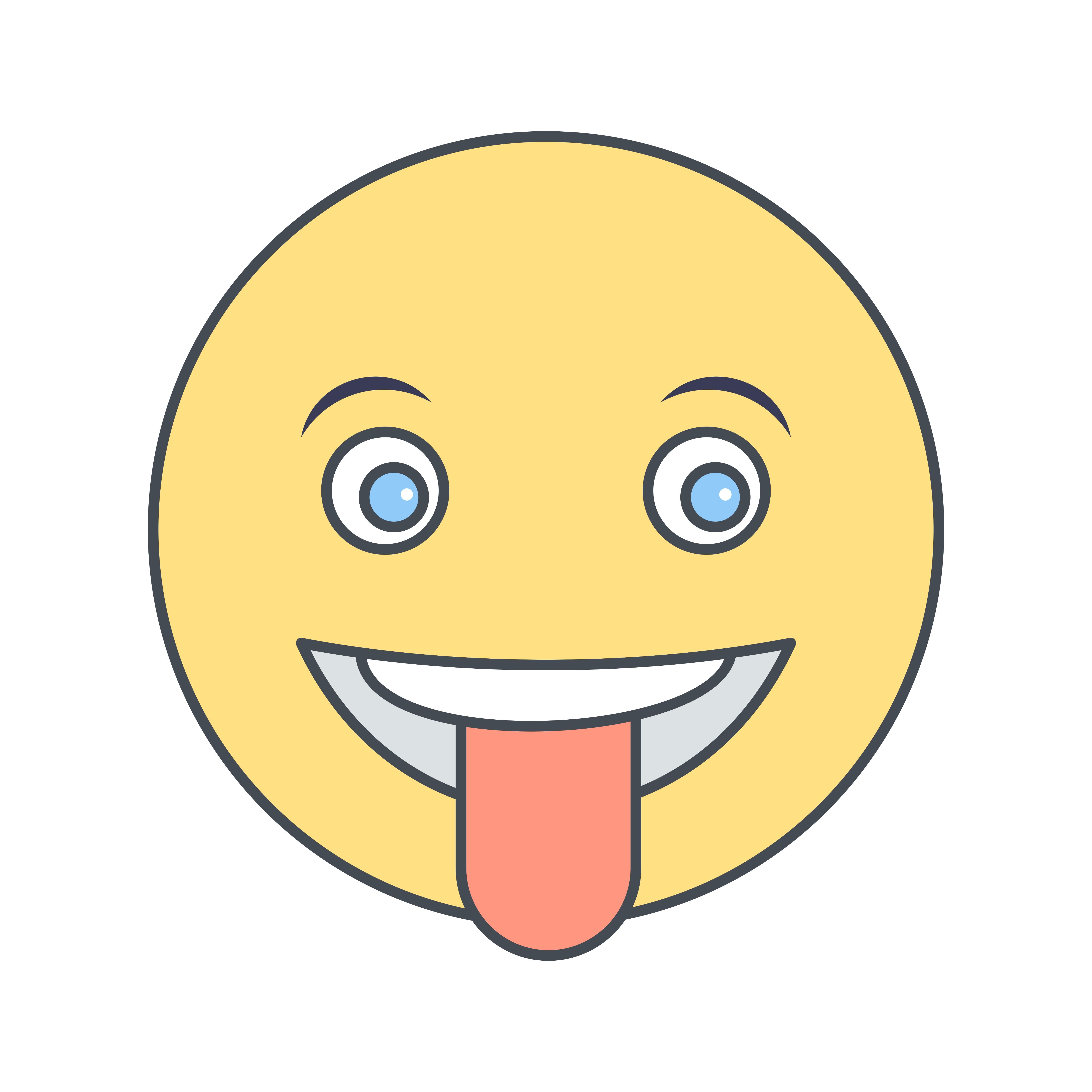 Tongue Emoji Vector Icon - Download Free Vectors, Clipart ...