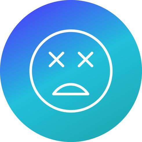 Dead Emoji Vector Icon