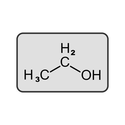 Ethanol-Vektor-Symbol