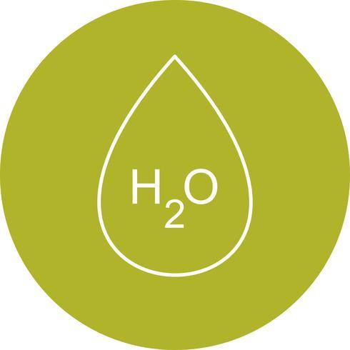 H2O  Vector Icon