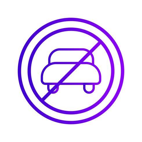 Vector No hay entrada para el icono de vehículo de motor