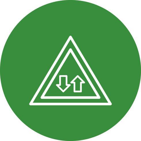 Vector tweerichtingsverkeer pictogram