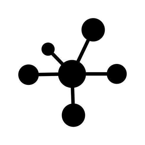 Icona di vettore di elettrone