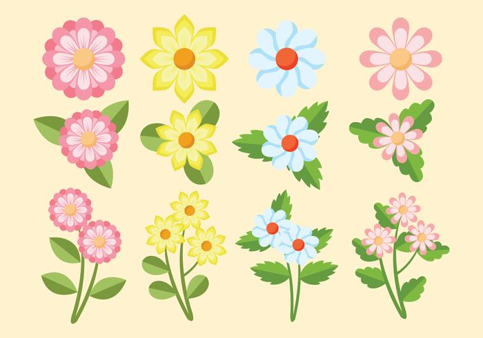 Blume Clipart eingestellt