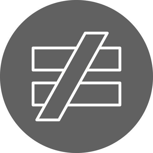 NotEqualTo Vector Icon