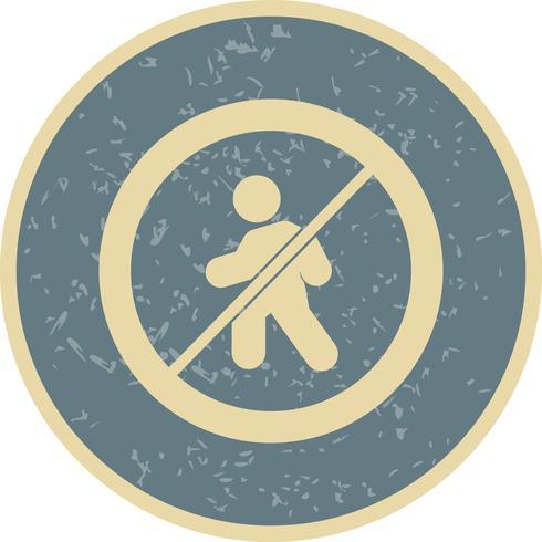 Vector Sin entrada para peatones Icono