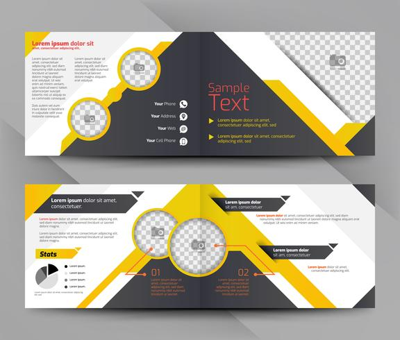 Modelo de folheto de negócios amarelo e preto