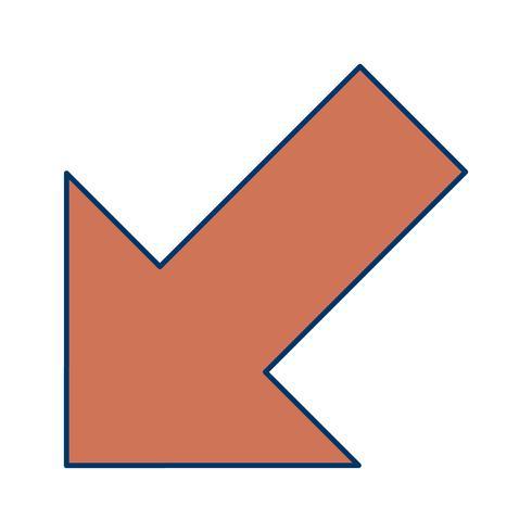 Links unten Vektor-Symbol