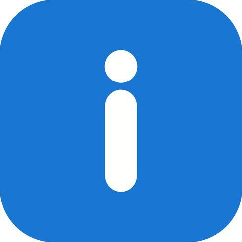 Ícone de vetor de informações