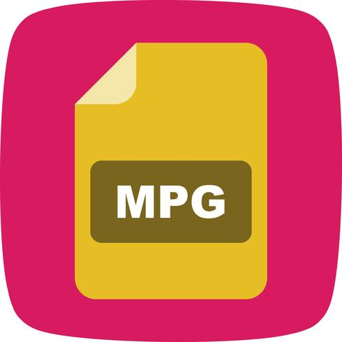 Ícone de vetor MPG