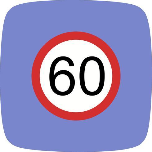 Vektor Hastighetsgräns 60 Ikon