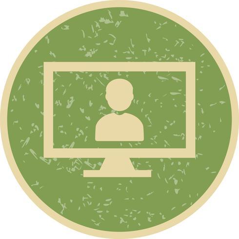 Ícone de vetor de trabalho on-line
