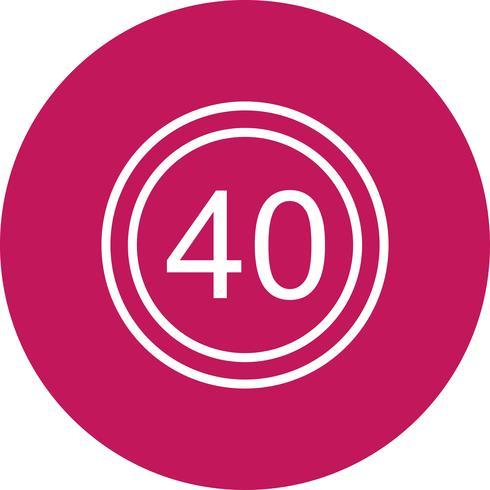 Icono de límite de velocidad de vector 40