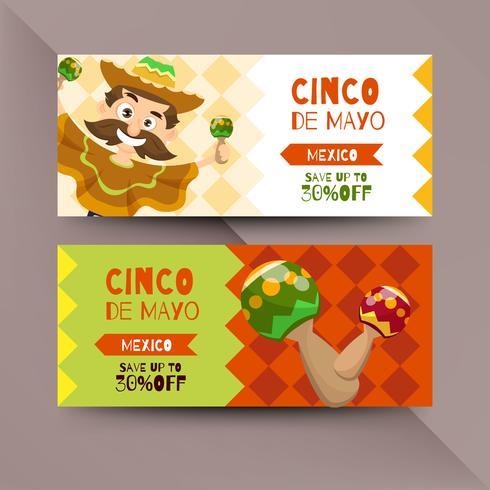 Cinco de Mayo flygblad med mexikanska tecken