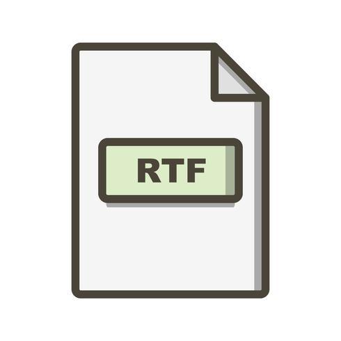 RTF Vector Icon