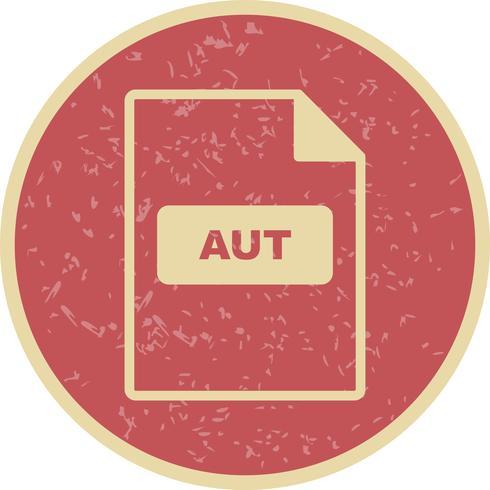 Icona di vettore di AUT
