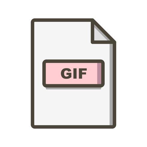 icono de vector gif