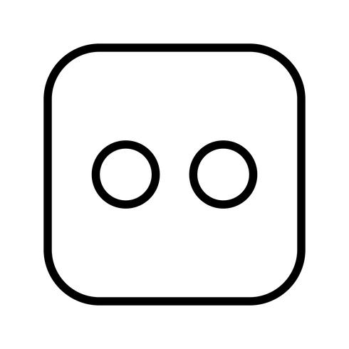 Dice Two Vector Icon