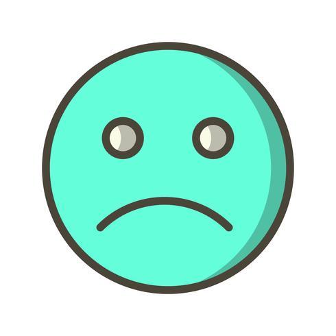 Ícone de vetor de emoticon triste