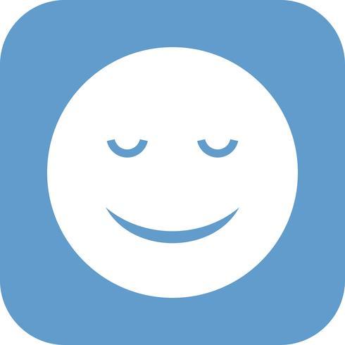 Calm Emoji Vector Icon