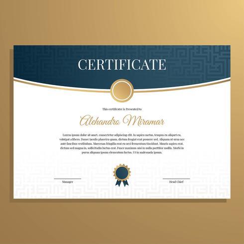 Vetor de modelo de certificado simples