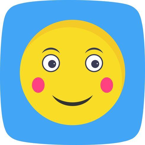 Erröten Sie Emoji-Vektor-Symbol