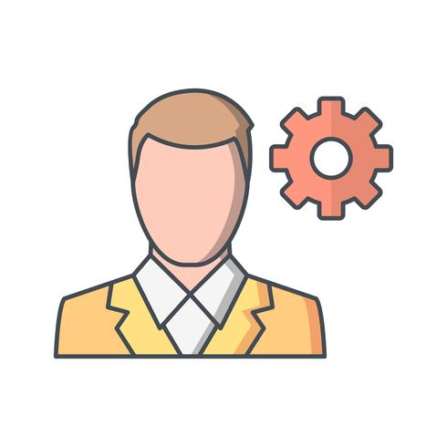 Icona di vettore di gestione utente