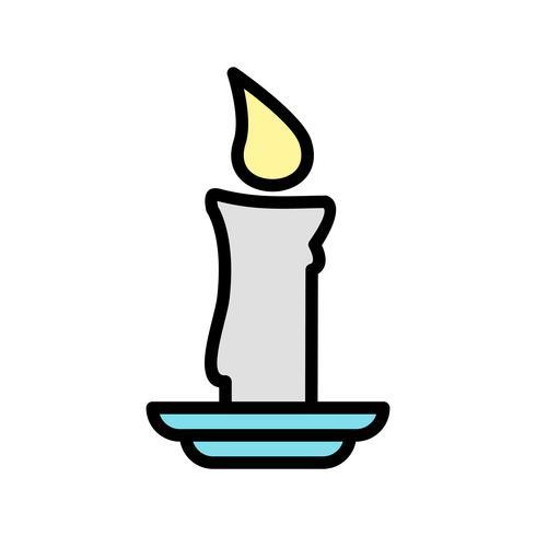 Icono de vector de vela