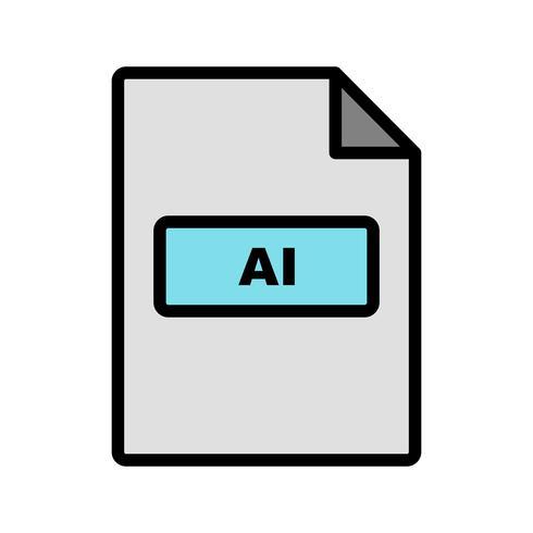 Ícone de vetor AI
