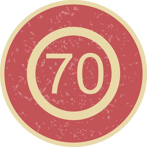 Icono de límite de velocidad de vector 70