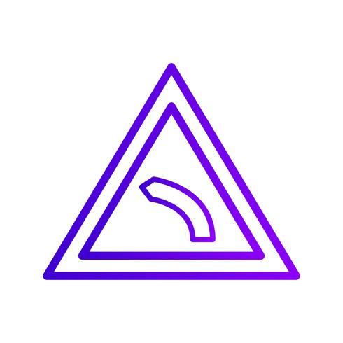 Vector Linker bocht pictogram