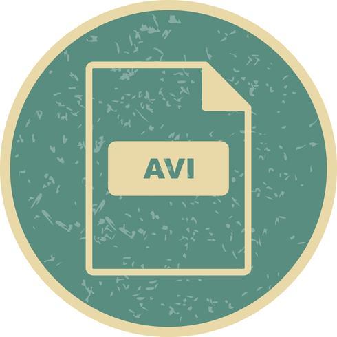 Ícone de vetor de AVI