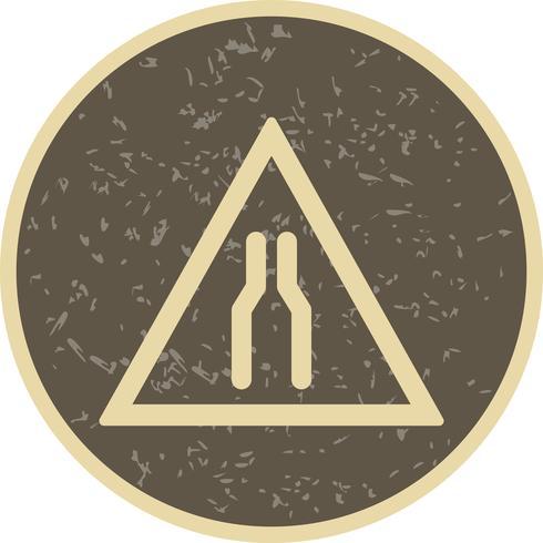 Icona stretta carreggiata vettoriale