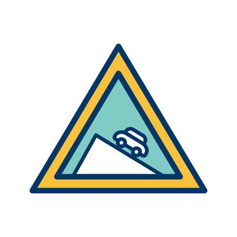 Vector descida perigosa ícone