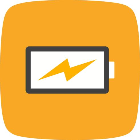 Laddningsbatterivektorns ikon