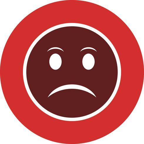 Ícone de vetor irritado Emoji